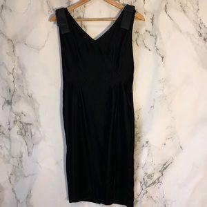 Jessica Howard Black Velvet Dress Sz 10